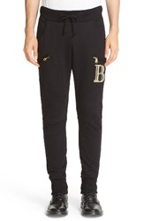 Balmain Men's Pierre Logo Patch Sweatpants