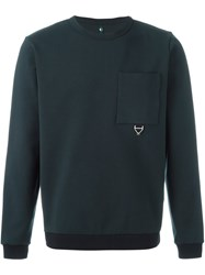Oamc Chest Pocket Sweatshirt Blue