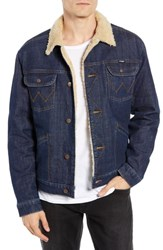 Wrangler Heritage Fleece Lined Denim Jacket Dark