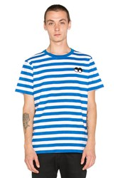 Lazy Oaf Eye Stripe Tee Blue