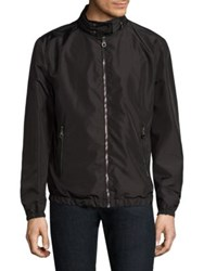 Salvatore Ferragamo Reversible Nylon Jacket New Black