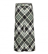 Alexander Mcqueen Cropped Tartan Wool Trousers Multicoloured