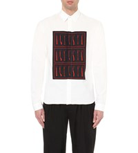 J.W.Anderson Printed Regular Fit Cotton Blend Shirt White