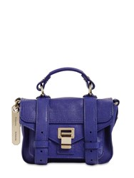 Proenza Schouler Ps1 Micro Lux Leather Bag Saphire