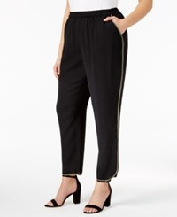 Nine West Plus Size Crepe Straight Leg Pants Black Loden