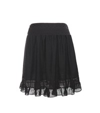 Mcq By Alexander Mcqueen Lace Trimmed Miniskirt Black