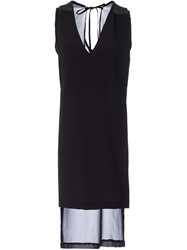 Ilaria Nistri Asymmetric Shift Dress Black