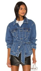 C Meo Collective Out Of Sight Jacket. Blue Denim