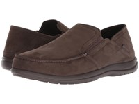 Crocs Santa Cruz Convertible Leather Slip On Espresso Espresso Slip On Shoes Brown