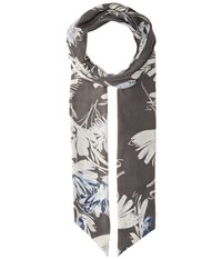 Vince Camuto Ecstatic Floral Skinny High Rise Scarves Silver
