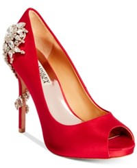 Badgley Mischka Royal Evening Pumps Women's Shoes Red