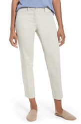 Brax Straight Leg Cropped Trousers Nature