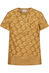 Richard Nicoll Metallic Wool Blend Jacquard Top