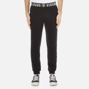 Versus By Versace Men's Slim Leg Joggers With Branded Waistband Black