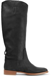 Rag And Bone Holly Coated Leather Knee Boots Black