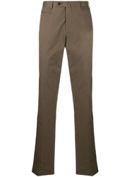 Corneliani Straight Leg Trousers Green