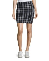 Theory Teslianna Lustrate Plaid Skirt Blue Pattern