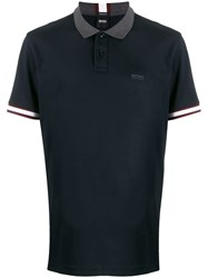 Boss Contrast Trimmed Polo Shirt 60