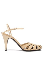 The Row Tango Cut Out Leather Sandals Cream