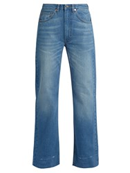 Raey Turn Turned Up Wide Leg Jeans Light Denim