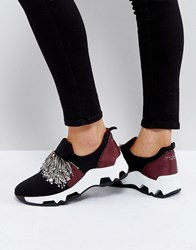 Sixty Seven Sixtyseven Black Embellished Trainers Black