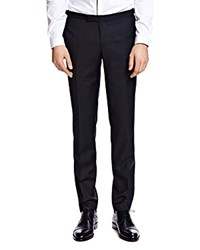 The Kooples Netting Slim Fit Tuxedo Pants Black