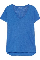 Majestic Linen T Shirt Blue