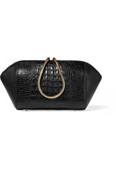 Alexander Wang Chastity Croc Effect Leather Cosmetic Case Black