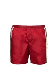 Gucci Gg Supreme Logo Swim Shorts Red Multi