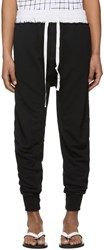 Haider Ackermann Black Moonshape Jogging Perth Lounge Pants