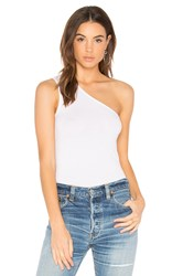 Enza Costa One Shoulder Tank White
