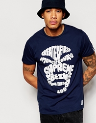 Supreme Being Supremebeing T Shirt With Type Face Print Black
