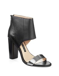 French Connection Penny Heels Black Pewter