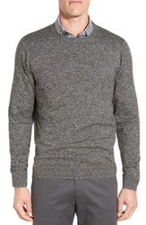 Nordstrom Men's Big And Tall Men's Shop Cotton And Cashmere Crewneck Sweater Black Caviar Jaspe