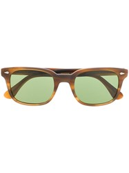 Moscot Square Framed Sunglasses Brown