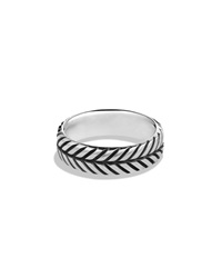 Modern Chevron Band Ring David Yurman
