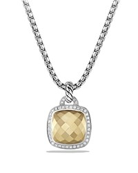 David Yurman Albion Pendant With Faceted 18K Yellow Gold Dome And Diamonds Gold White