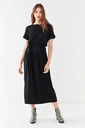 Urban Outfitters Uo Belted Maxi T Shirt Dress Black