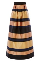 Coast Rita Metalic Maxi Skirt Gold