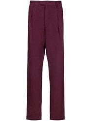 Saturdays Surf Nyc Tailored Fitted Trousers Pink And Purple