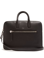 Mulberry Kenrick Grained Leather Briefcase Black
