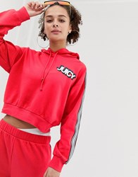 Juicy Couture By Hoodie With Chest Logo And Taping Co Red