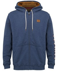 Animal Zip Through Hoody Navy