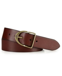 Polo Ralph Lauren Accessories Wilton Leather Equestrian D Ring Belt Dark Brown
