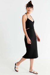 Urban Outfitters Uo Cut Out Halter Midi Dress Black