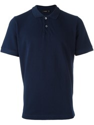 Jil Sander Shortsleeved Polo Shirt Blue