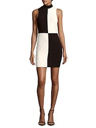 Likely Colorblock Sheath Dress Black White
