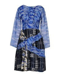Michael Van Der Ham Short Dresses Blue