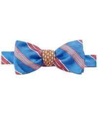 Brooks Brothers Men's Reversible Stripe Flag And Raft Neat To Tie Bow Tie Blue