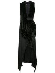Kitx Draped Plunge Dress Black